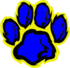 Blue And Gold Tiger Paw Clip Art