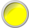 Push Button Yellow Glossy Clip Art