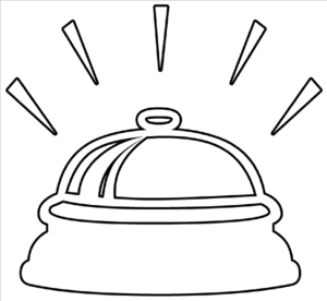 Bell Ringing Outline Clip Art