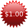 $1 Red Star Price Tag Clip Art