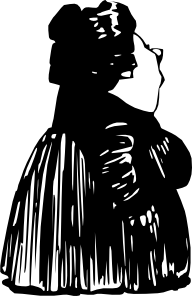 Fat Lady Standing Clip Art