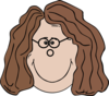 Lady With Glasses Clip Art
