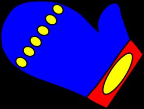 Clip Art Mitten Clip Art blue mitten clip art at clker com vector online art