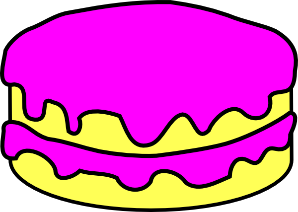 Cake Images Cartoon : Pink Cake No Candle Clip Art at Clker.com - vector clip ...