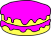 Pink Cake No Candle Clip Art
