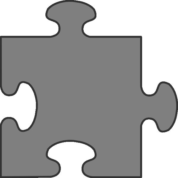 Gray Border Puzzle Piece Top Clip Art At Clker Com