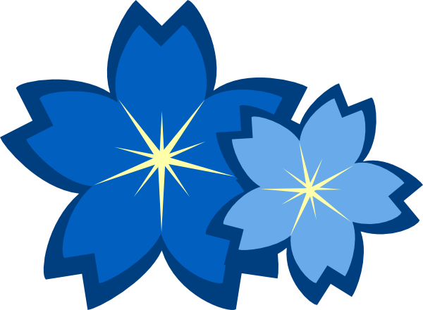 Blue Flowers Clip Art at Clker.com - vector clip art ...