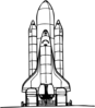 Space Shuttle Liftoff Clip Art