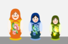 Russian Dolls Clip Art