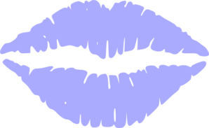 Purple Lips Clip Art