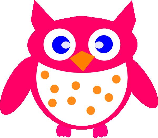 pink owl clip art at clker com vector clip art online pink and purple owl clip art Baby Girl Owl Clip Art