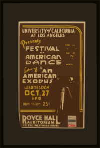 University Of California At Los Angeles Presents Festival Of American Dance Featuring  An American Exodus  Clip Art