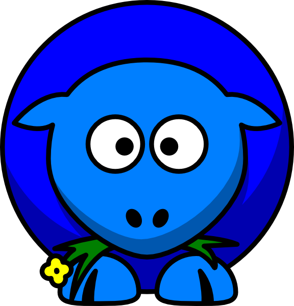 Sheep Blue Two Toned Looking Cross Eyed Clip Art at Clker ...