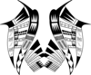 Tribal Butterfly Clip Art