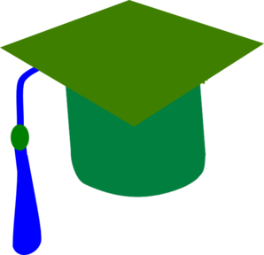 Blue Green Graduaction Clip Art