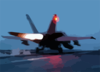 An F/a-18 Hornet Assigned To The  War Party  Of Strike Fighter Squadron Eighty Seven (vfa-87) Launches From The Flight Deck Aboard Uss Theodore Roosevelt (cvn 71). Clip Art