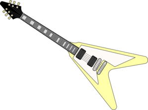 Yellow Electric Guitar Clip Art