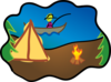 Happy Camping Clip Art
