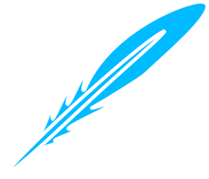 Feather Blue White Clip Art