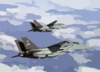 Two F-14 Tomcats Of Fighter Squadron One Zero Three (vf-103) Clip Art