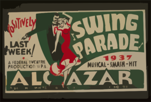 Swing Parade  1937 Musical Smash Hit Positively Last Week! Clip Art