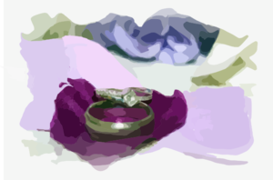 Rings On Purple Petals Clip Art