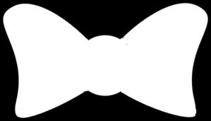 Bow Outline Bold Clip Art at Clker.com - vector clip art ...