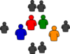 Group Of People In Round Clip Art