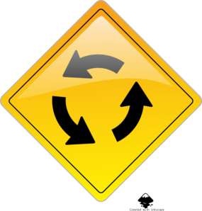 Circular Intersection Warning Clip Art