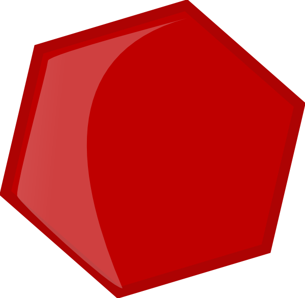Hexagon Red Clip Art at Clker.com - vector clip art online, royalty ...