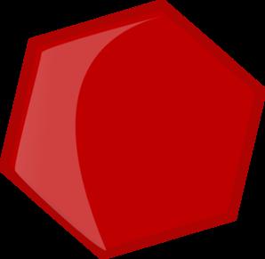 hexagon red clip art at clkercom vector clip art online