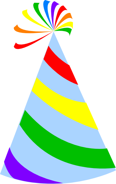 rainbow party hat sky blue clip art at clker com vector clip art rh clker com party hat clipart png party hat clipart png