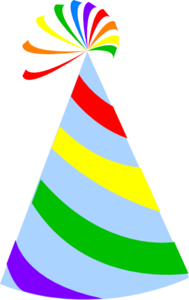 rainbow party hat sky blue clip art at clker com vector clip art rh clker com free clipart party hat free clipart party hat images