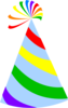 Rainbow Party Hat Sky Blue Clip Art