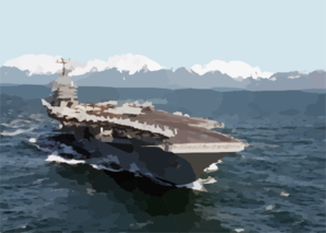 Uss Lincoln - Gulf Of Alaska Clip Art