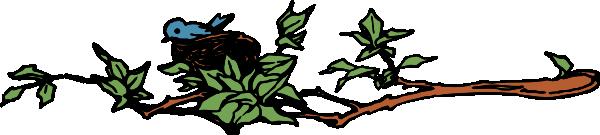 Bird Nest In Branch Clip Art at Clker.com - vector clip ...