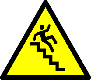 Caution! Stairs Clip Art
