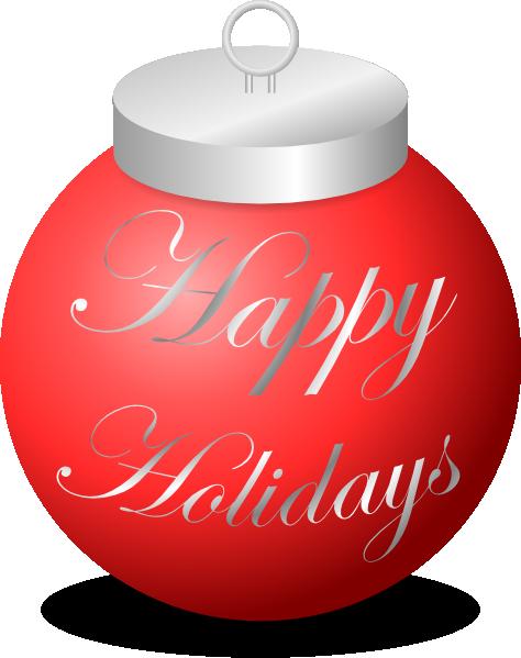 Happy Holidays Ornament Clip Art at Clker.com - vector ...