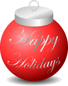 Happy Holidays Ornament Clip Art