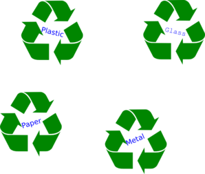 Large Green Recycle Symbol Clip Art