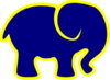 Blue And Yellow Elephant Clip Art