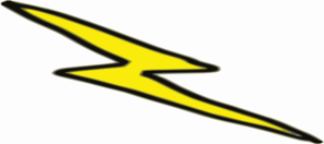Lightening Bolt For Side Of Cake Clip Art