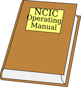 Ncic Operating Manual Clipart Clip Art