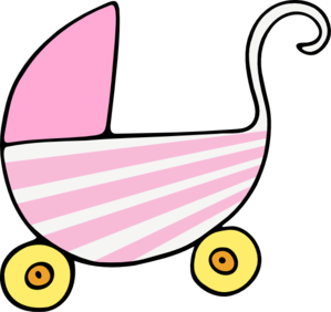Baby Pink Carriage Clip Art