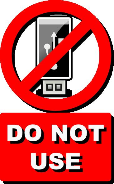 Do Not Use Usb Clip Art At Clker.com