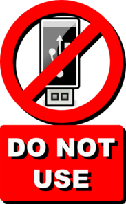 Do Not Use Usb Clip Art