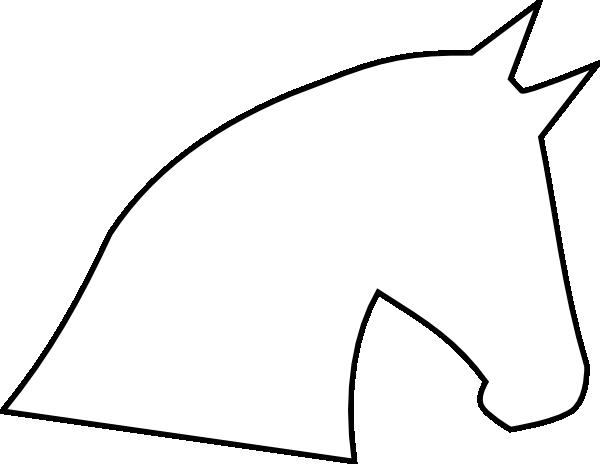Horse Head Outline Clip Art At Clker Com Vector Clip Art