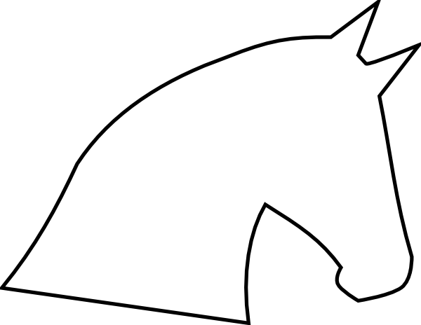 Horse Head Outline Clip Art at Clker.com - vector clip art online ...