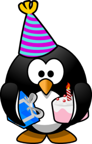 Celebration Penguin Clip Art