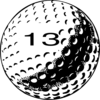 Golf Ball Number 13 Clip Art